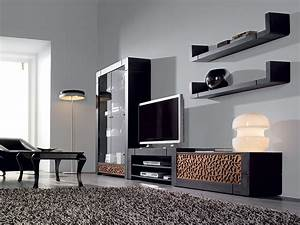 Meuble Tele Moderne : meuble tv patin gris plomb et reliefs contemporain filia ~ Teatrodelosmanantiales.com Idées de Décoration