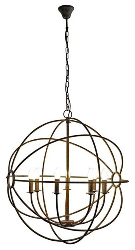 gabriel wrought iron orb chandelier contemporary