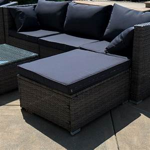6pc outdoor patio furniture sectional rattan wicker sofa With wicker sectional sofa with chaise