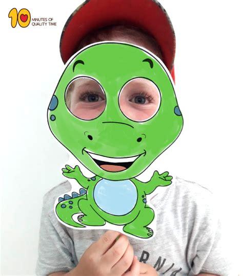 dinosaur paper mask printable template  minutes
