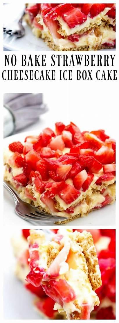Strawberry Cheesecake Cake Bake Box Ice Recipe