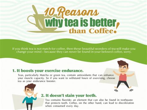 Submitted 5 years ago by superdudeonfire. 10 Reasons That Tell Tea is Better Than Coffee Infographic