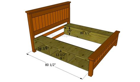 build  bed frame  drawers howtospecialist