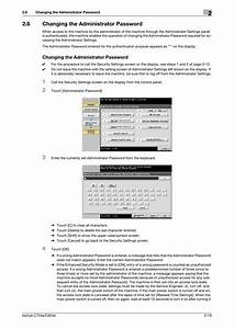 6 Changing The Administrator Password  Changing The
