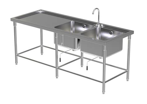 kitchen sink table sink table w 2 faucet 2 2931