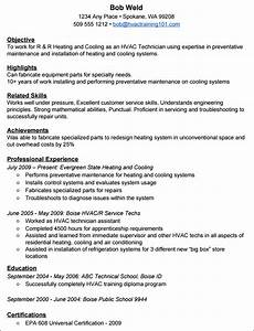 how to create a standout hvac resume with example resume With hvac technician resume