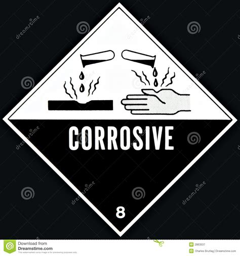 corrosive sign royalty  stock photography image