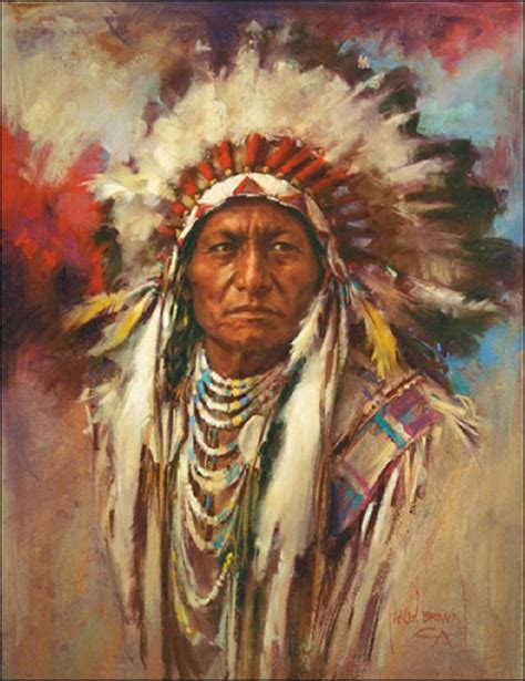 Indian Chief Picture by Sitting Bull The Tale Of My