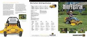 Hustler Turf Mini Fas Trak 15 36 Users Manual