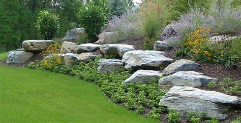 using boulders in landscaping landscape boulders landscape design trexlertown pa