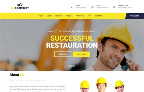 simple construction html template 30 free bootstrap templates to in 2018