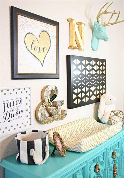 crib with dresser gold and aqua nursery project nursery