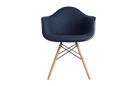 eames molded fiberglass armchair dowel base upholstered