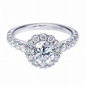 gabriel co 14k white gold contemporary halo engagement ring With halo wedding rings