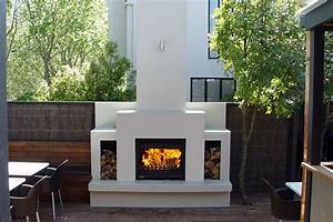 Outdoor, Wood, Fireplace, Ideas