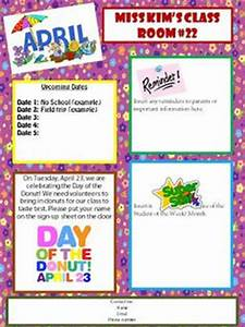 newsletters on pinterest monthly newsletter template With free april newsletter template