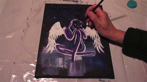 engel malen fuer anfaenger   paint  angel