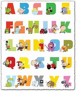 baby alphabet letters with animals vector With baby letter