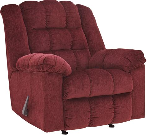ludden burgundy rocker recliner from 8110625