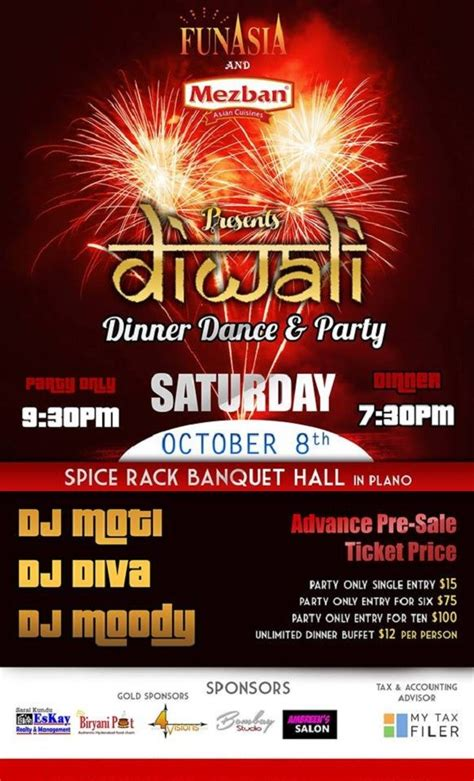Spice Rack Plano Tx by Diwali Dinner And At Spice Rack Banquet