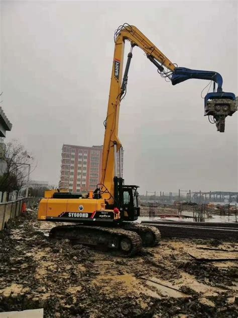 high accuracy excavator mounted vibratory hammer pile driver quick running speed