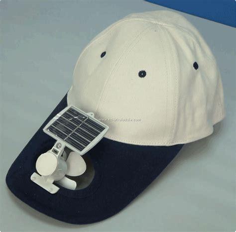 solar fan capbaseball hat