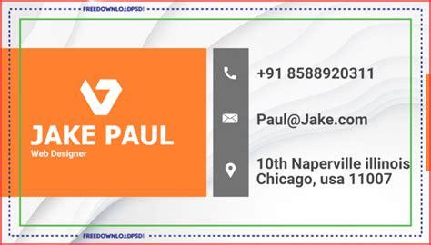 business card psd template freedownloadpsdcom