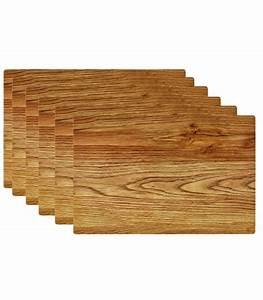 Set De Table : set de table design bois clair en vinyle set de 6 ~ Teatrodelosmanantiales.com Idées de Décoration