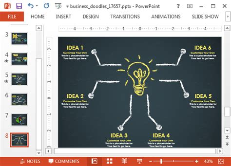 animated business doodle timeline template  powerpoint