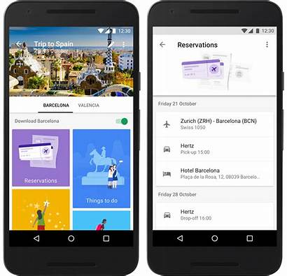 App Google Trips Itinerary Travel Trip Confirmation