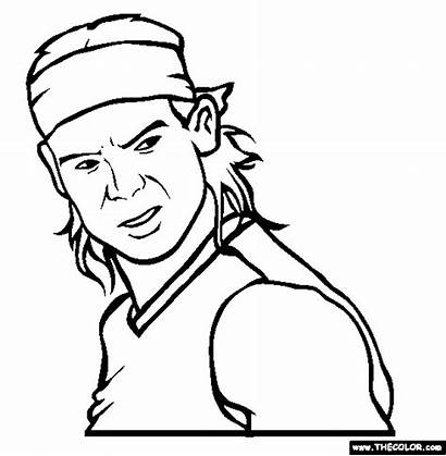 Nadal Rafael Coloring Pages Tennis Professional Player