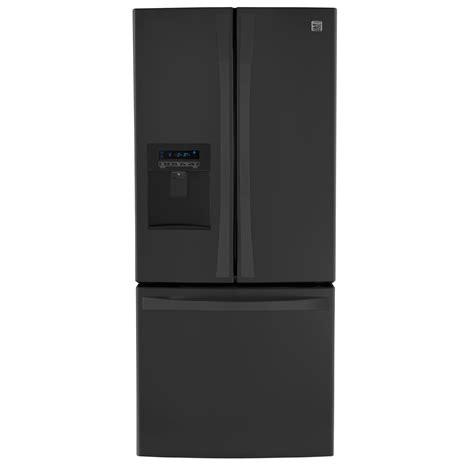 kenmore elite   cu ft french door bottom freezer refrigerator  water dispenser black