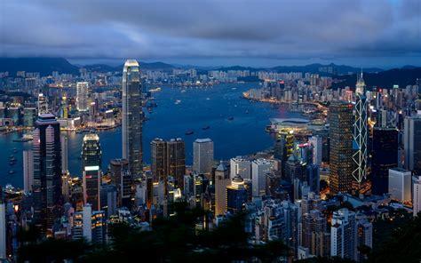 hong kong city view mac wallpaper   mac