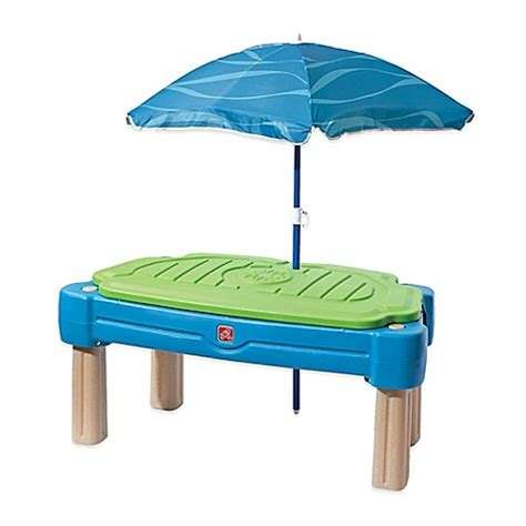 step 2 table with umbrella step2 cascading cove water table with umbrella buybuy baby