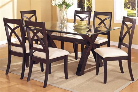 glass table six chairs dining table glass dining table sets 6