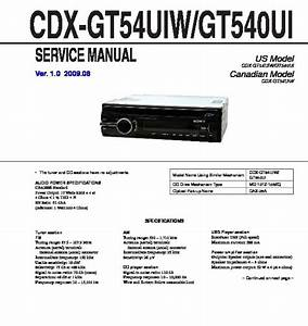 Sony Car Stereo Wiring Diagram Cdx Gt540ui