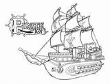 Coloring Pirate Pages Skulls Skull Popular sketch template