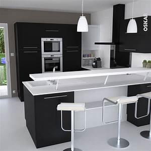 les 25 meilleures idees de la categorie cuisines noires With lovely meuble bar pour cuisine ouverte 2 comptoir bar cuisine americaine cuisine en image