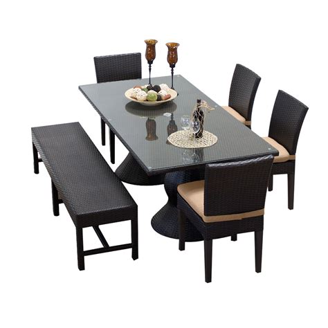 outdoor rectangular table and chairs tk classics napa rectangular outdoor patio dining table