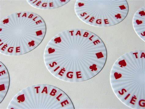 Seat Tokens  Jetons De Placement  Poker Chips Design