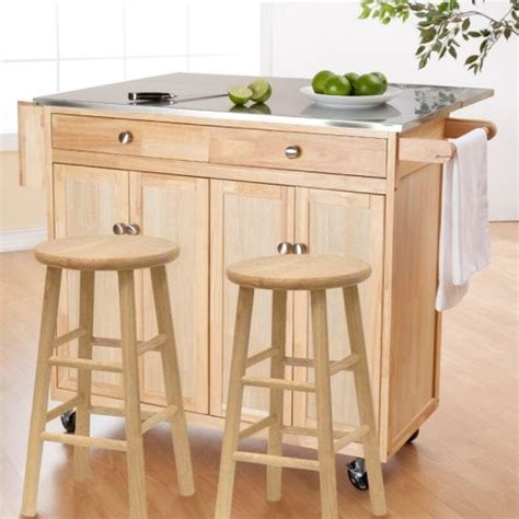kitchen island cart with stools the portable kitchen island with optional stools contemporary kitchen islands and