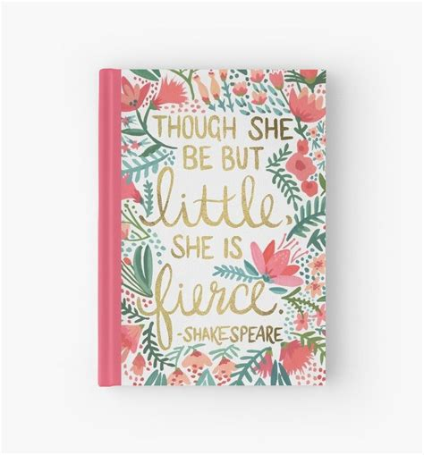fierce hardcover journal   typography