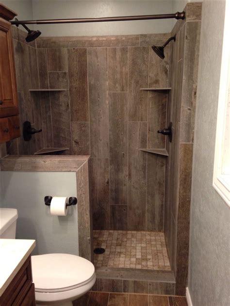 awesome idea wood tile shower    tile