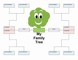 50 free family tree templates word excel pdf With plain family tree template