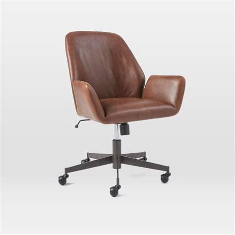aluna leather office chair west elm