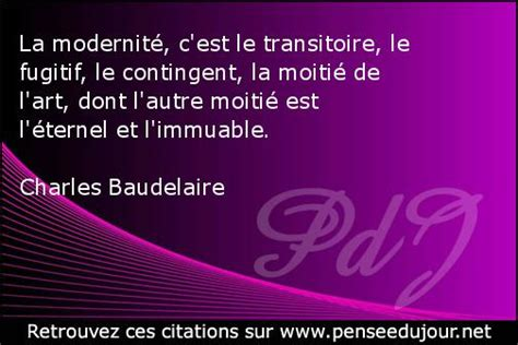 modernit 233 citation de charles baudelaire