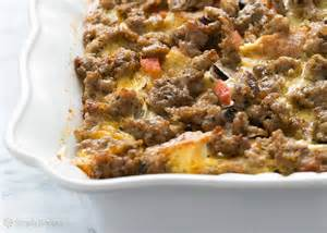sausage breakfast casserole recipe simplyrecipes