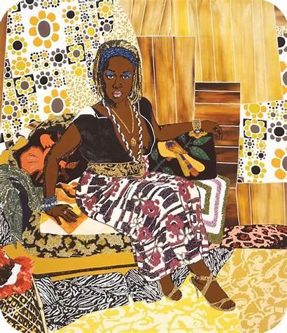 Artists Mickalene Thomas Lgbt African American Collage