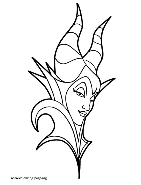 maleficent maleficent face coloring page