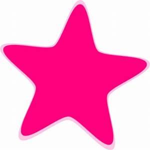 Hot Pink Star Clip Art at Clker.com - vector clip art ...